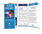 Clouds and thunder lightnings and storm Brochure Templates