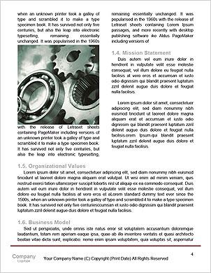 ギアを操作するビジネスマンとのチームワークのコンセプト 辞書のテンプレート - ページ 4