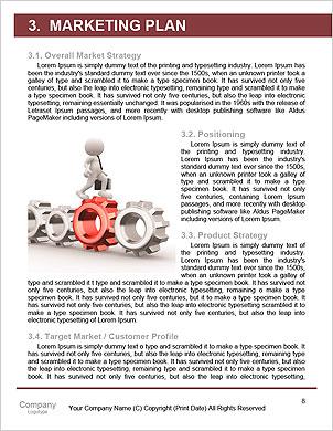 ギアを操作するビジネスマンとのチームワークのコンセプト 辞書のテンプレート - ページ 8