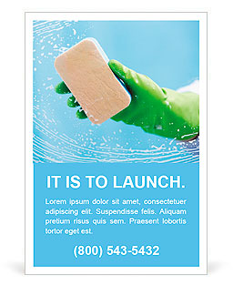 cleaning advertisement template