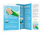 Cleaning - cleaning window pane with detergent, spring cleaning concept Brochure Templates
