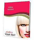 Fashion Stylish Beauty Portrait. Beautiful Girl's Face Close-up. Haircut. Hairstyle. Fringe. Profess Presentation Folder
