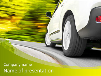 Driving in the curve PowerPoint Template