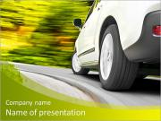 Driving in the curve PowerPoint Templates