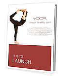 Flexible young girl in yoga pose over white background Presentation Folder