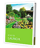 Flowerbeds and Winding Pathway in an English Formal Garden Presentation Folder