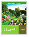 Flowerbeds and Winding Pathway in an English Formal Garden Word Templates