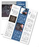 Businessman hand draws gear to success concept Newsletter Templates