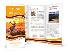 Red Deer in Morning Sun. Brochure Template