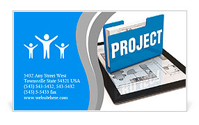 Business project concept Business Card Template