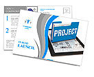 Business project concept Postcard Template