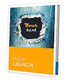 Blue torn denim jeans texture with space for text Presentation Folder