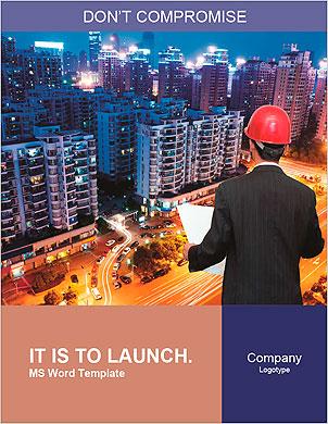 Vue arrière de l'architecte regardant comparant projet de logement avec la construction Les clichés de dictionnaire - Page 1