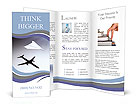 Paper airplane casting a shadow of a jetliner - vision and aspirations concept illustration Brochure Templates