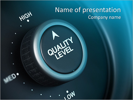 Quality control powerpoint template smiletemplates quality level button with low medium and high positions button is positioned in the toneelgroepblik Images