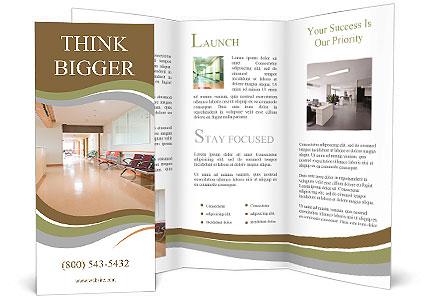 Empty Nurses Station In A Hospital Brochure Template Design ID - Healthcare brochure templates