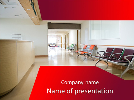 Empty nurses station in a hospital powerpoint template backgrounds empty nurses station in a hospital powerpoint template toneelgroepblik Image collections