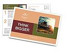 Harvesting machine Postcard Templates
