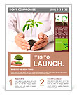 Holding a plant isolated on a white background Flyer Template