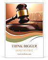 Wooden gavel and books on wooden table, on brown background Ad Templates