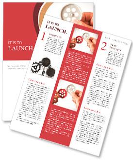 Concept de partenariat avec des engins et businessmsn Newsletter