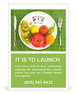 Diet and nutrition Ad Template
