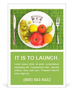 Dieta e nutrição Modelos de anúncio