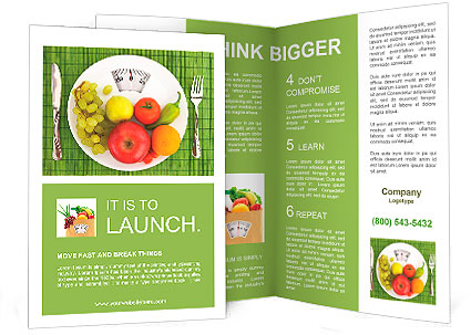 Diet And Nutrition Brochure Template & Design Id 0000010106