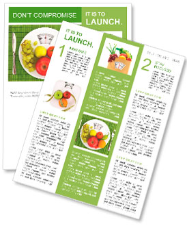 diet and nutrition newsletter template design id 0000010106