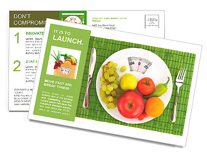 Diet and nutrition Postcard Template & Design ID 0000010106 ...