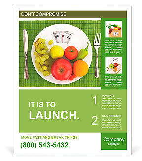 diet and nutrition poster template design id 0000010106