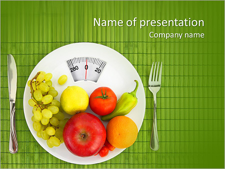 diet and nutrition powerpoint template  backgrounds id, Powerpoint