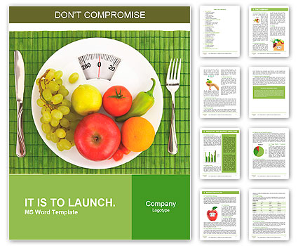 diet and nutrition word template design id 0000010106