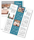 Closeup of reading glasses on the book. shot in the library Newsletter Template