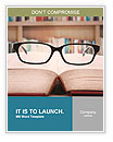 Closeup of reading glasses on the book. shot in the library Word Template
