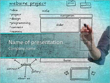 Website development project on whiteboard powerpoint template website development project on whiteboard powerpoint template toneelgroepblik Images