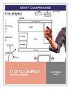 Website development project on whiteboard Word Templates