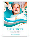 Little girl sitting in the dentists office Ad Template