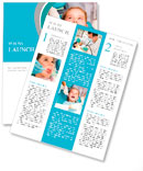 Little girl sitting in the dentists office Newsletter Templates