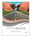 Hands button safety belt on the background of the road Poster Template
