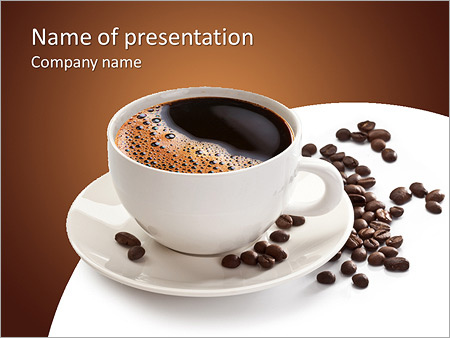 Coffee cup and beans on a white background powerpoint template coffee cup and beans on a white background powerpoint template toneelgroepblik Image collections