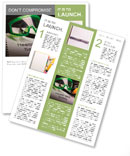 Health and safety register with goggles and earphones Newsletter Template