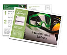 Health and safety register with goggles and earphones Postcard Template