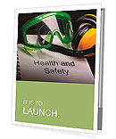 Health and safety register with goggles and earphones Presentation Folder