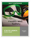 Health and safety register with goggles and earphones Word Templates
