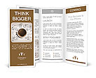 Cup of coffee on background of business strategy Brochure Template