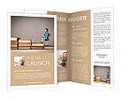 Child climbing stairs Brochure Templates