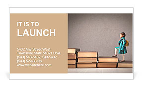 Child climbing stairs Business Card Templates