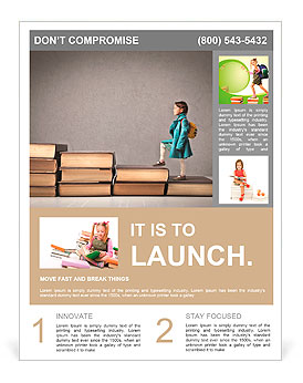 Child climbing stairs Flyer Template