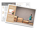 Child climbing stairs Postcard Template